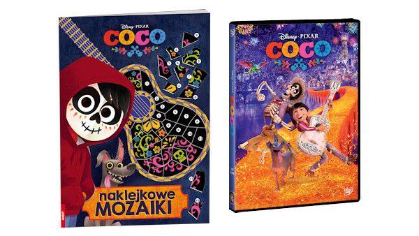 Coco naklejki dvd