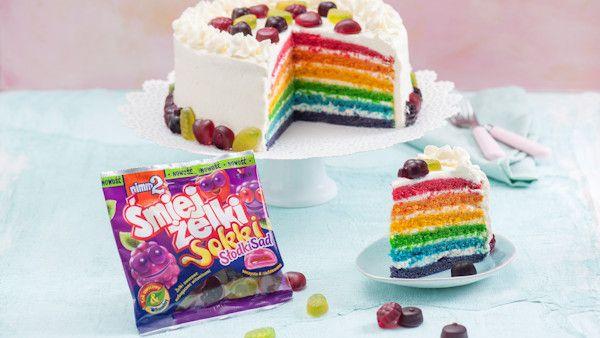 Rainbow cake zelki