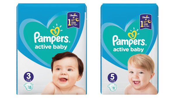 Pampers active baby suche do rana