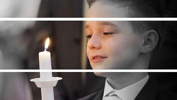 Chłopczyk ze świecą