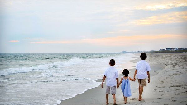 Opaska dziecko morze