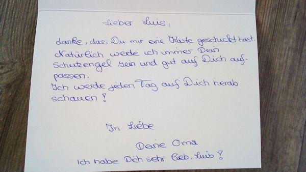 7latek napisal list do zmarlej babci