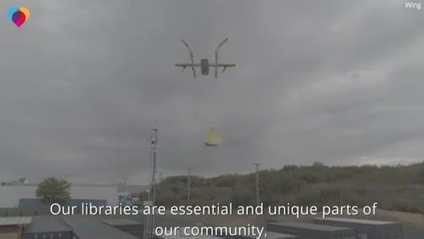 Dron ksiazki biblioteka