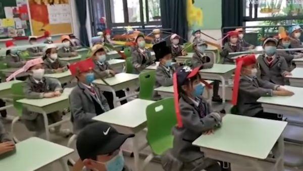 Uczniowie chiny nakrycie glowy