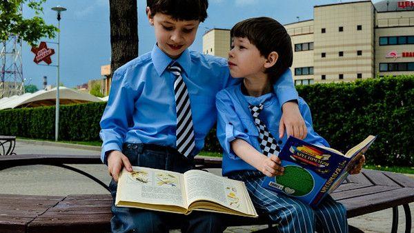 Uczniowie zaczynanie lekcji