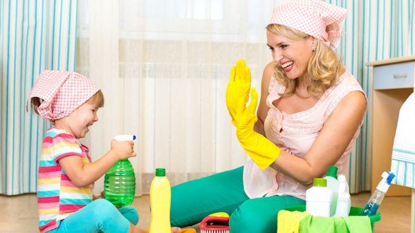 Sprzatanie z dzieckiem na 5