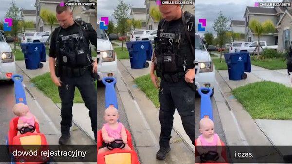 Roczna dziewczynka policjant